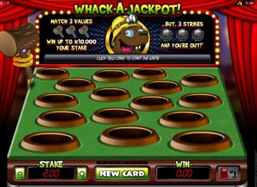 Whack A Jackpot Game View